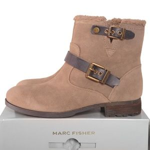 March Fisher Nattaly Faux Fur Collar Bootie